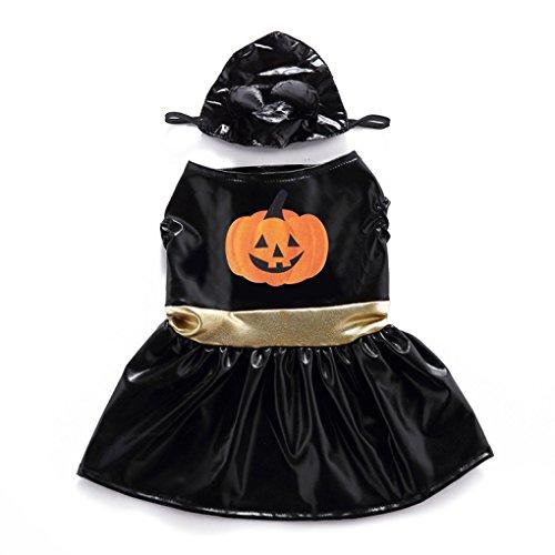 Level Great Halloween-Kürbis-Kleid-Kostüm für Hund Katze Rock Cosplay Anzug Kleidung Weihnachten Prom (Katze In Der Katze Kostüme)