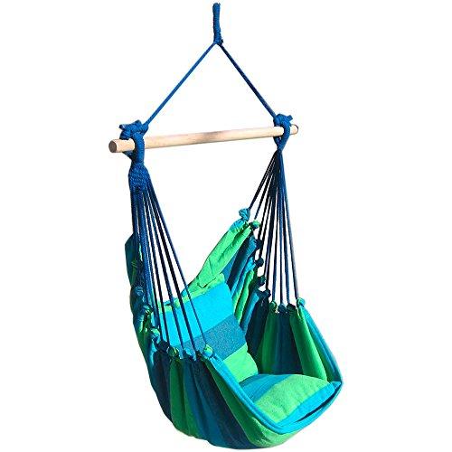 s`home Tobago / Hängesessel mit 2 Kissen / blau, grün -