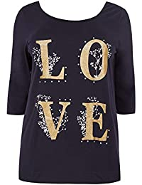 90497d2a542 Yours Clothing Women s Plus Size  Love  T-Shirt
