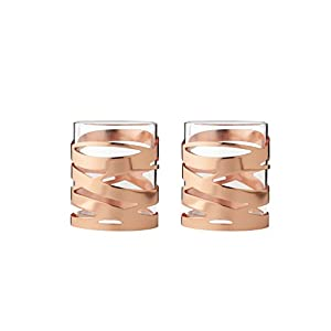 Stelton Tangle Teelichthalter Kupfer