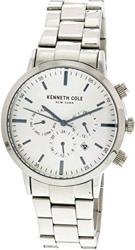 Kenneth Cole Men's KC50228007 Silver Stainless-Steel Japanese Quartz Fashion Watch