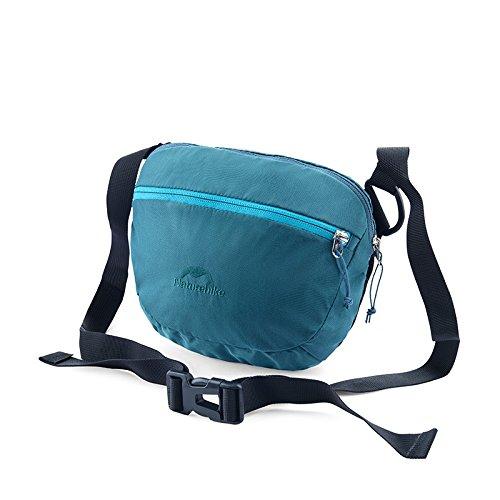 HYSENM Borsa a tracolla marsupio cintura Daypacks Borsa Outdoor vita quotidiana, verde blu