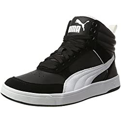 Puma Rebound Street V2, Zapatillas de Cross Unisex Adulto, Negro Black White, 45 EU
