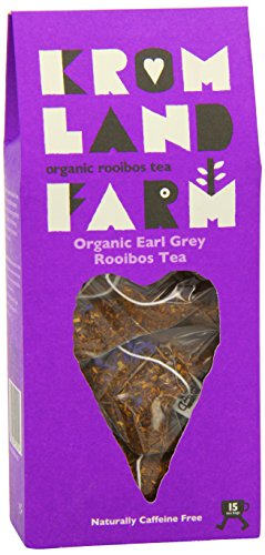 Kromland Farm Organic Rooibos Earl Grey (Pack of 1, Total 15 Teapees)