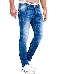 MERISH 5-Pocket Denim Jeans Hommes Slim Used Modell J3014