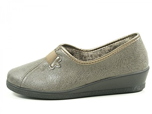 Rohde Ladies Slipper 2535-17 lin gris Grau