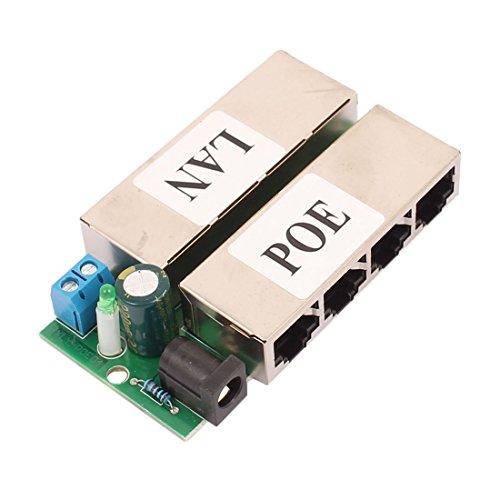 sourcingmap® 4 LAN POE Anschluss Modul Injektor Stromversorgung Ethernet Router für IP Kamera