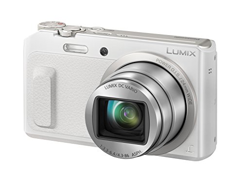 Panasonic LUMIX DMC-TZ58EG-W Travellerzoom Kamera (16 Megapixel, 20x opt. Zoom, 3-Zoll LCD-Display, Full HD, WiFi, 24 mm Weitwinkel-Objektiv) weiß (Hd Panasonic Lumix)