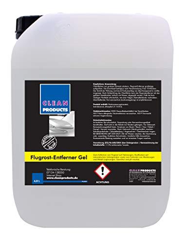 CLEANPRODUCTS Flugrostentferner 4,8 Liter - Säurefrei & pH-neutral - Für Auto, Lkw, Bus, Anhänger, Rostflecken, Beton, Granit, Werkzeug, Metall Legierungen -