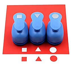 Cady Crafts Punch Set 5/8-Inch Paper Punches 3pcs/Set (Triangle. Circle. Square)