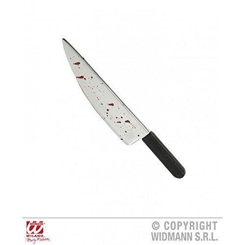 Blutige Küchenmesser (Blutiges Küchenmesser / Scherzmesser / Waffe / Halloweendekoration / Halloweenwaffe ca. 48 cm / Halloween)