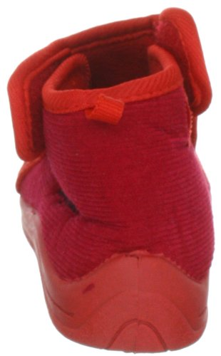 Playshoes 201752, Mädchen Hausschuh Rot (rot 8)