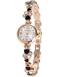 XKC-watches Relojes para Hombres, Amor con Reloj de Diamantes Estudiante Modelos Femeninos Pulsera
