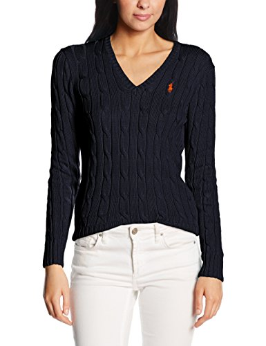 Polo Ralph Lauren Damen Sweatshirt V39IE168CE149, Blau (Hunter Navy B4E08), X-Small (Ralph Lauren Polo Xs)