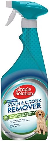 Simple Solution Dog Stain and Odour Remover Rainforest Fresh, Clear White, 750 ml