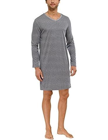 Schiesser Herren Schlafanzugoberteil Nachthemd 1/1, Gr. Medium (Herstellergröße: 050), Grau (grau-mel. 202)
