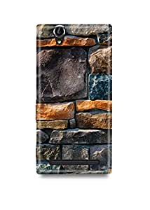 Sony Xperia T2 Ultra Cover,Sony Xperia T2 Ultra Case,Sony Xperia T2 Ultra Back Cover,Bricks Sony T2 Ultra Mobile Cover By The Shopmetro-29325