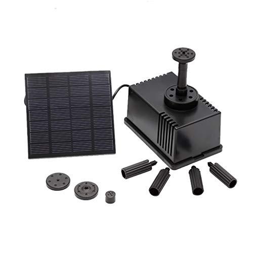 Hengzi Solar Brunnenpumpe Kit Freistehende 1.5W Solar Panel Wasserpumpe Für Garten Und Terrasse Mit Schwammfilter 80L / H -