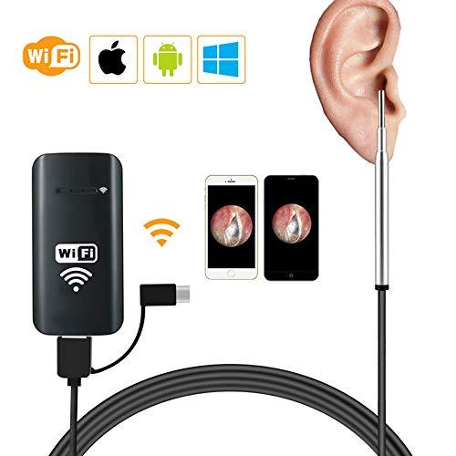 LittleMokey Wireless Inspection Kamera Wasserdichte 1200P halbstarre Endoskop 2,0 Megapixel HD Schlangenkamera für Android IOS Smartphone
