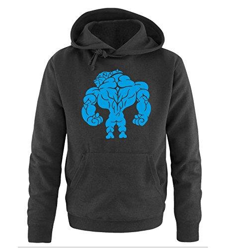 Comedy Shirts - BODYBUILDING BULLDOG - Uomo Hoodie cappuccio sweater - taglia S-XXL different colors nero / blu