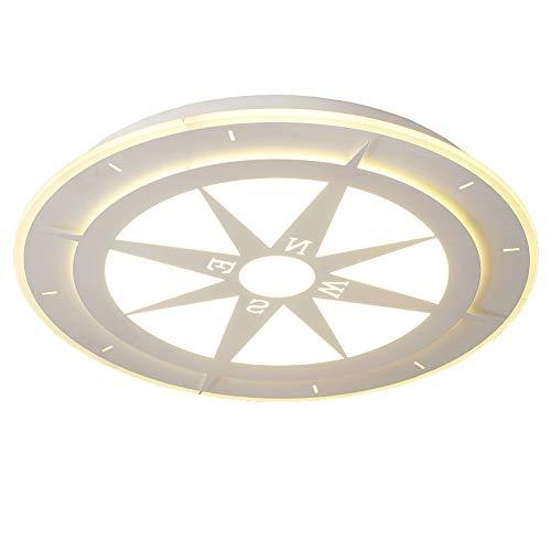 LED deckenlampe küche Kreativ Kompass Wohnzimmerlichter LED Macarons-Lampen Unterputzmontage Zum Flur Keller Kabinett Treppenhaus [Energieklasse A ++],White,whitelights