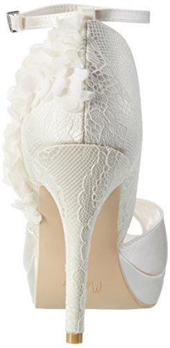 Menbur Wedding Gema, Scarpe con Plateau Donna avorio (avorio)