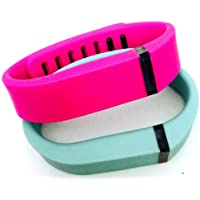 Preisvergleich für ! Small S 1pc Teal (Blue/Green) 1pc Purple / Pink Replacement Bands + 1pc Free Small Grey Band With Clasp for Fitbit FLEX Only /No tracker/ Wireless Activity Bracelet Sport Wristband Fit Bit Flex Bracelet Sport Arm Band Armband
