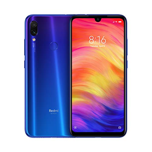Xiaomi Redmi Note 7 Smartphone da 6.3' FHD+ Dot Drop display, Snapdragon 660, 4 GB RAM, 128 GB, 48 MP+ 5 MP Rear Dual Camera, Neptune Blue [Versione Globale]