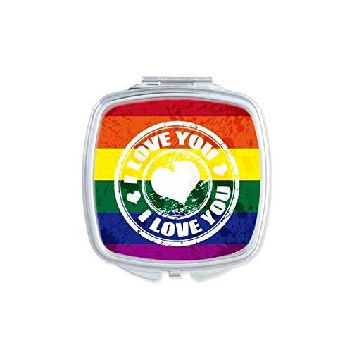 Love LGBT - Espejo de bolsillo para maquillaje
