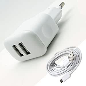 Webplaza Karbonn A101 Compatible Charger 2.1Am with Dual Usb Port Charger