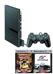 Console Playstation 2 Pack Platinum (incluant 1 Pad PS2, Gran Turismo 4 Platinum et Tekken 5 Platinum)