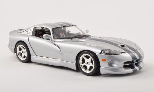 dodge-viper-gts-coupe-silber-dkl-blau-modellauto-fertigmodell-bburago-118