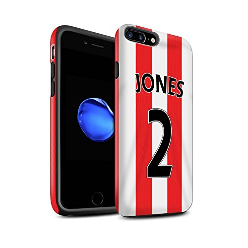 Officiel Sunderland AFC Coque / Matte Robuste Antichoc Etui pour Apple iPhone 7 Plus / Kone Design / SAFC Maillot Domicile 15/16 Collection Jones