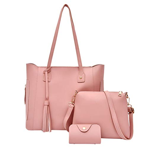 WoWer 3Pcs | Damen | Handtaschen + UmhäNgetaschen + Brieftaschen Mode Leder Messenger Bag | Handytasche | Mutter Tasche | Big Bulk Bag Classic Retro Master Design (Hochzeit Sonnenbrille Bulk)