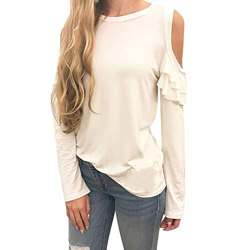OSYARD Damen Oberseiten T-Shirt Pullover Sweatshirt, Frauen Langarm Strickpullover Oberteile Solid...