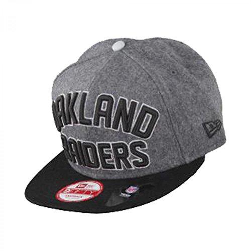 Oakland Raiders nfl Grey/Black/Silver emphasized Snap New Era 9FIFTY Snapback Adjustable Baseball Cap, Hombre Niños-Niñas Hombre-Mujer Niños, color gris, tamaño S/M