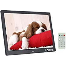 "Andoer® 15.6 "" LCD de Alta Resolución de 1280x800 Marco de Fotos Digital Máquina Publicidad Despertador MP3 MP4 Movie Player con Control Remoto Regalo de Navidad Presente"