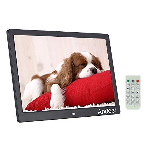 """Andoer® 15.6 """" LCD de Alta Resolución de 1280×800 Marco de Fotos Digital Máquina Publicidad Despertador MP3 MP4 Movie Player con Control Remoto Regalo de Navidad Presente"""