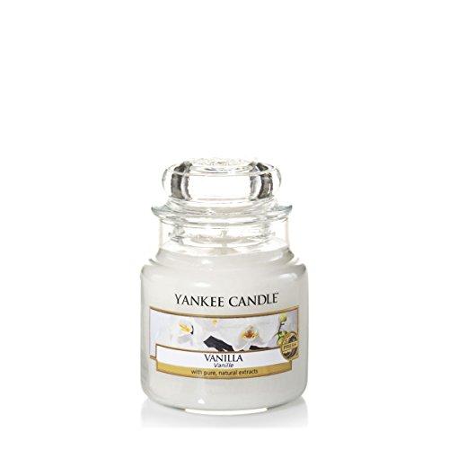 Yankee Candle 1507745E Classic-Vanilla Duftkerze Glas 6 x 6 x 8,90 cm, weiß