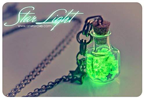 Glühen Sie in der dunklen Flasche Halskette. Leuchtende Sterne Licht Glas Flasche Halskette, glühende Anhänger, niedliche Halskette, Geschenke, Geschenk für Frauen -