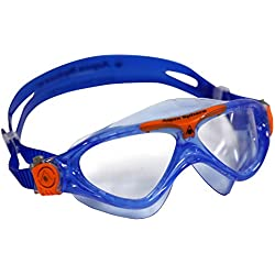 Aqua Sphere Kid's Vista Junior Boy's and Girl's Swimming Goggle, Mask, Blue Orange, One Size
