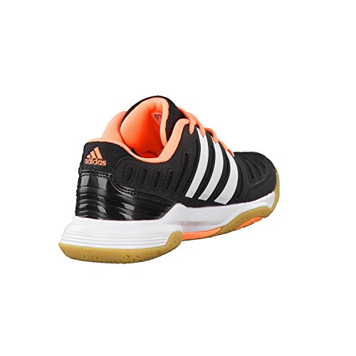 Adidas Essence 11, Sports en salle Femme Noir (Core Black/Ftwr White/Flash Orange S15)