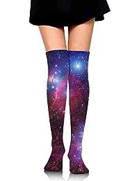 Personalized Cool Athletic High Socks Stockings Women Socksc Thigh Over  Space Galaxy Star Nebula Dress Legging c1ca915ef51