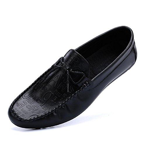 Hommes Chaussures de loisirs Respirant Mode Chaussures paresseuses Chaussures décontractées Black