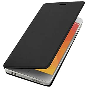 Litchi Texture Horizontal Flip Smart Leather Case with Sleep & Wake-up Functions for Xiaomi Mi 4(Black)