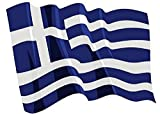 U24 Autoaufkleber wehende Flagge Griechenland 8,5 x 6 cm