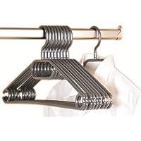 Kesper Clothes Hanger, Plastic, Grey, 10-Piece