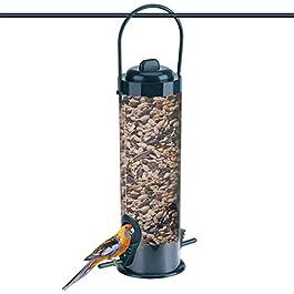 Dewin Mangiatoie per Uccelli – Giardino Esterno in plastica Trasparente Appeso Alimentatore di Uccelli Selvatici, stoccaggio Contenitore di Semi, 1Pcs