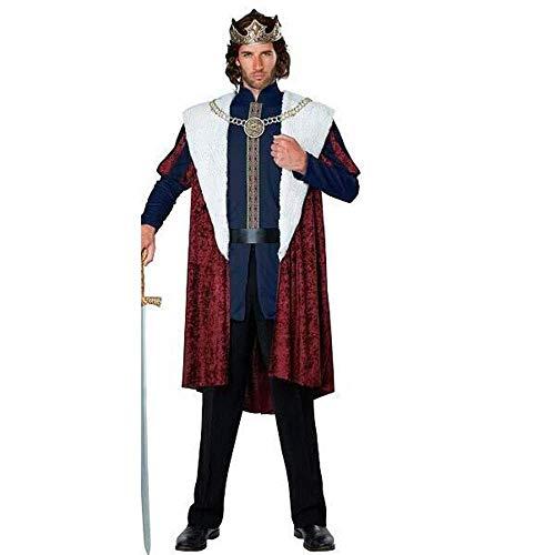 FrebAfOS Halloween Gladiator spielt Kostüm, Gerechtigkeit Samurai-Held-Partei-Leistung Uniform, Gericht König Kostüm, XL, X-Large