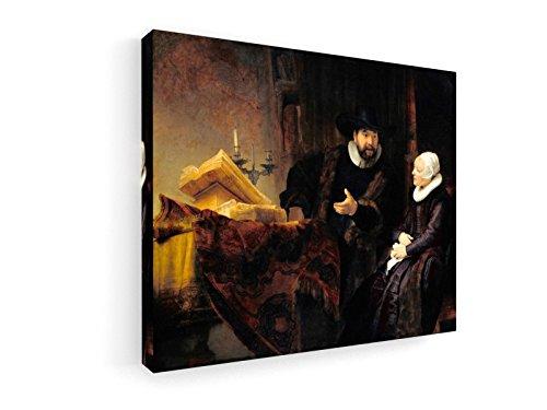 Rembrandt - Anslo und Frau - 60x50 cm - Premium Leinwandbild auf Keilrahmen - Wand-Bild - Kunst, Gemälde, Foto, Bild auf Leinwand - Alte Meister/Museum
